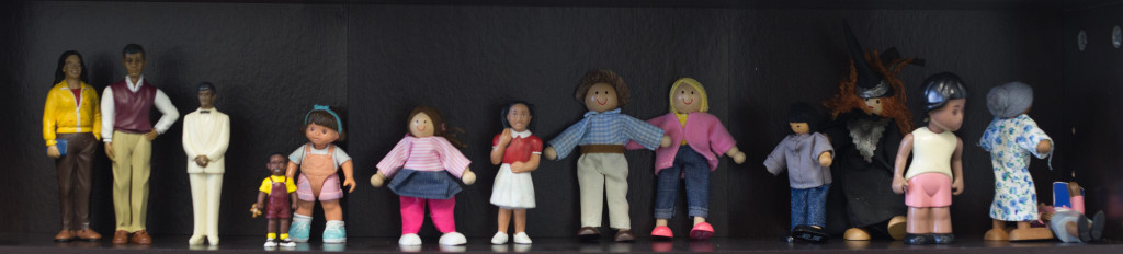row of dolls